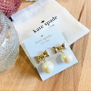 Kate Spade Bow & Pearl Earrings